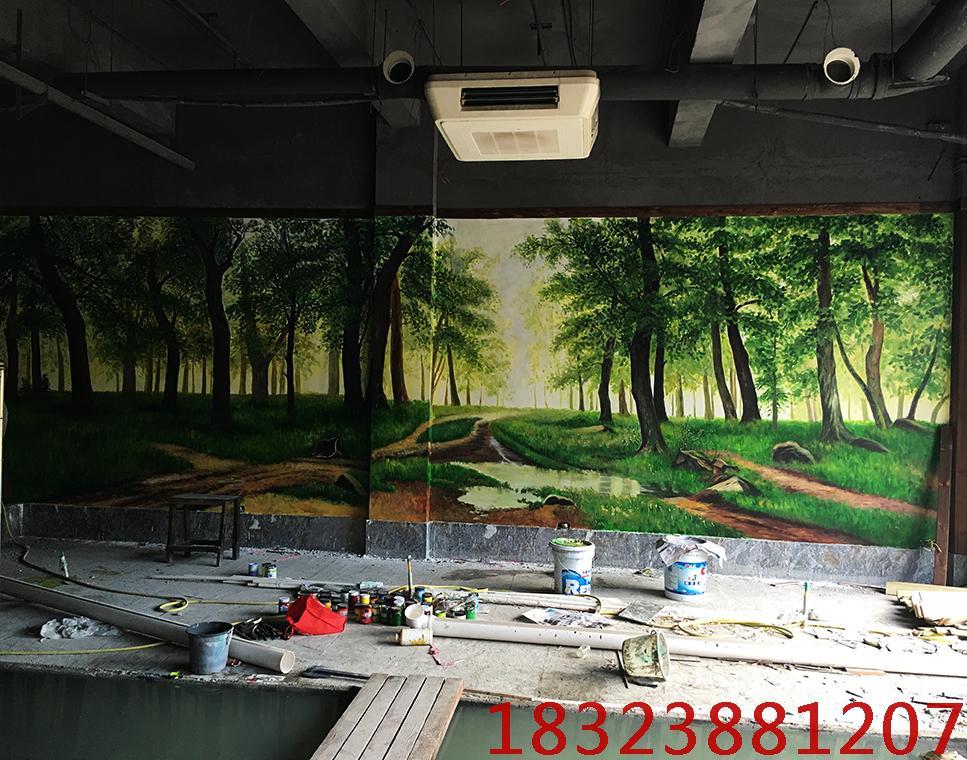 森林手绘墙画